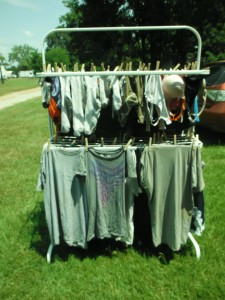Hanging Clothes on a Clothes Line