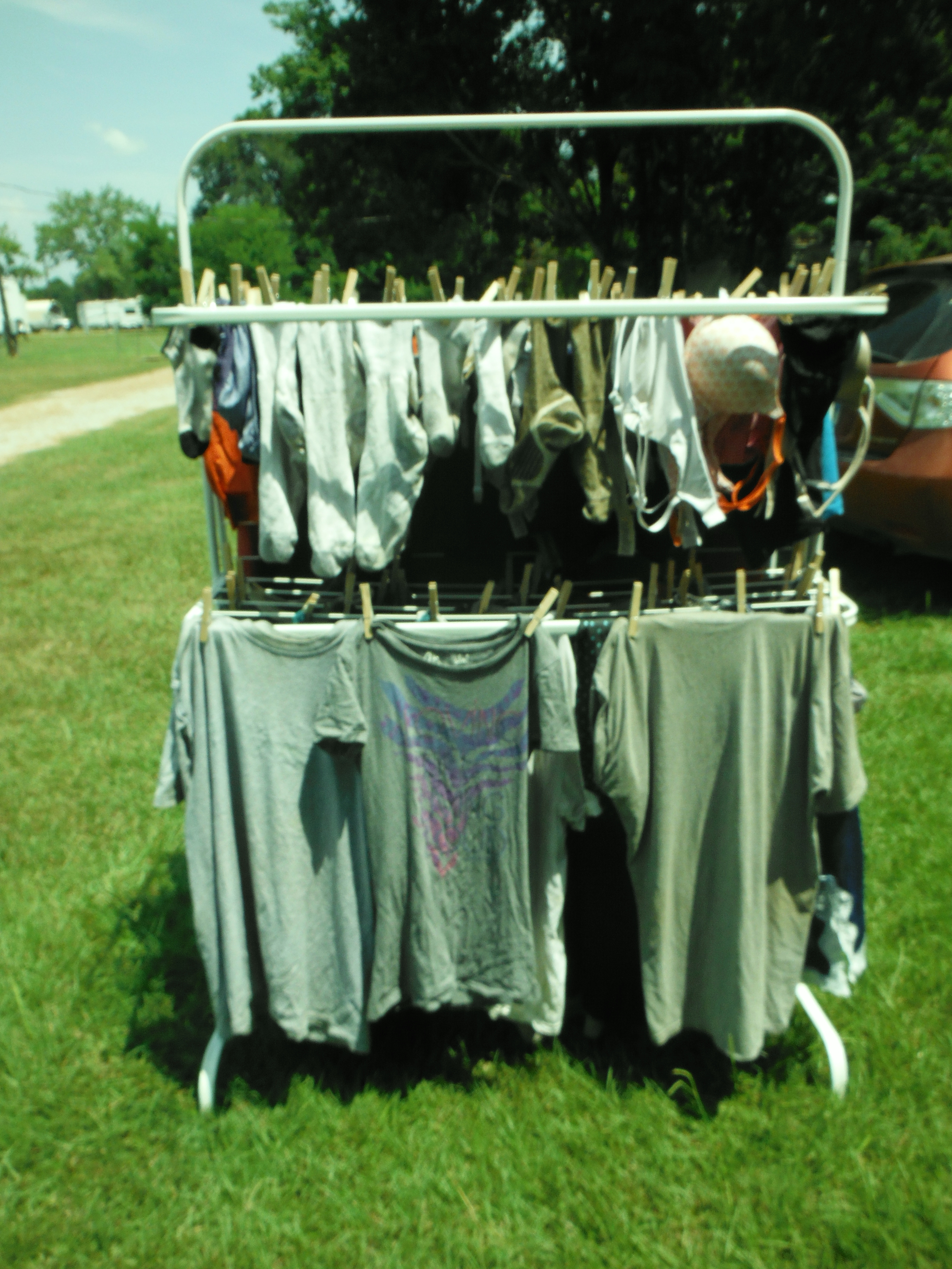 ... Hanging Clothes On A Clothes Line