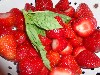 Strawberries and Basil for Strawberry Jam