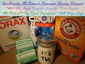EcoFriendly All Natural Homemade Laundry Detergent