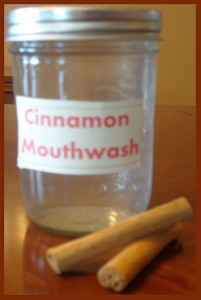 Homemade Cinnamon Mouthwash